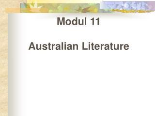 Modul 11 Australian Literature