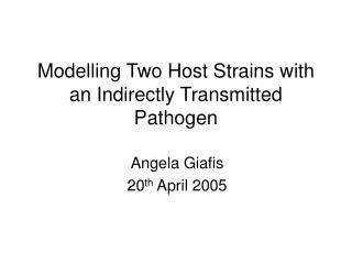 Modelling Two Host Strains with an Indirectly Transmitted Pathogen