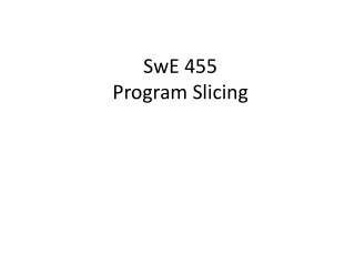 Program Slicing Tools