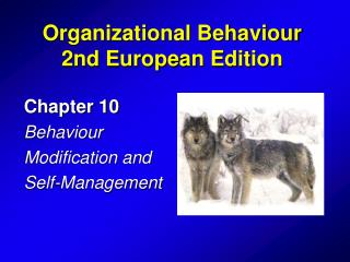Chapter 10 Behaviour  Modification and Self-Management