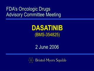 FDA's Oncologic Drugs Advisory Committee Meeting