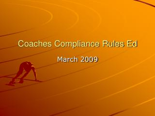 Coaches Compliance Rules Ed