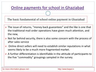 In brief about online payment for school in Ghaziabad
