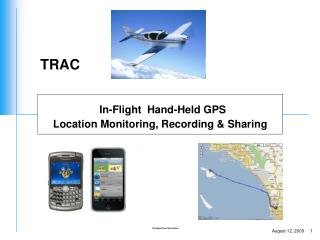 In-Flight  Hand-Held GPS  Location Monitoring, Recording & Sharing