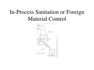 In-Process Sanitation or Foreign Material Control