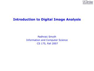 Introduction to Digital Image Analysis