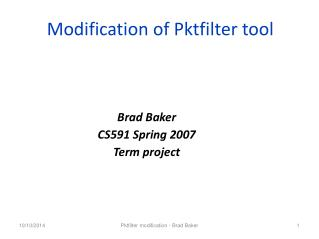 Modification of Pktfilter tool