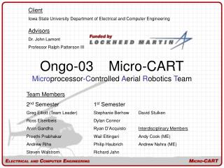 Ongo-03    Micro-CART Micro processor- C ontrolled  A erial  R obotics  T eam