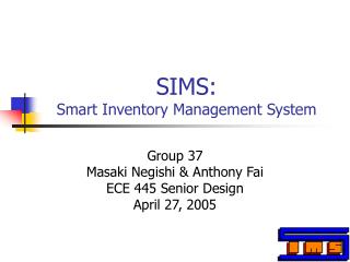 SIMS: Smart Inventory Management System