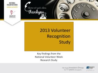 Key findings from the  National Volunteer Week  Research Study
