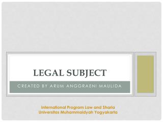Legal subject