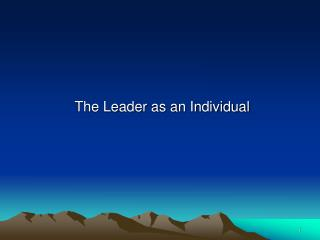 The Leader as an Individual
