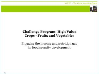 Global Horticulture Assessment  2005