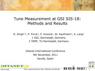 Tune Measurement at GSI SIS-18: Methods and Results