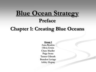 Blue Ocean Strategy Preface  Chapter 1: Creating Blue Oceans