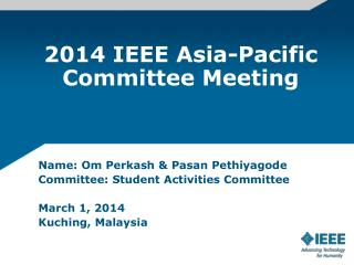 2014 IEEE Asia-Pacific Committee Meeting