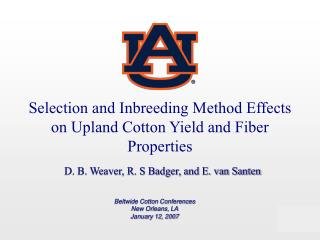 Selection and Inbreeding Method Effects on Upland Cotton Yield and Fiber Properties