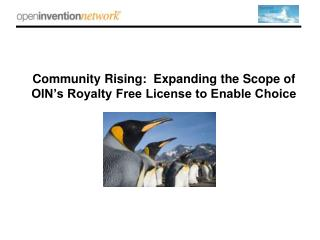 Community Rising:  Expanding the Scope of OIN's Royalty Free License to Enable Choice