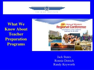 What We Know About Teacher Preparation Programs
