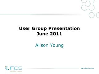 User Group Presentation June 2011