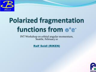 Polarized fragmentation functions from  e + e -