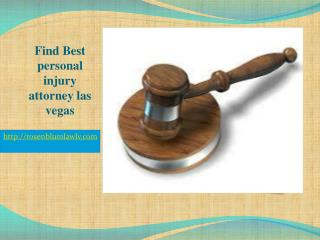Find Best personal injury attorney las vegas