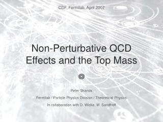 Non-Perturbative QCD Effects and the Top Mass