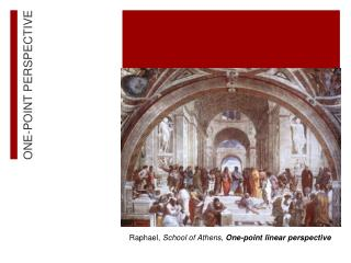 Raphael,  School of Athens,  One-point linear perspective
