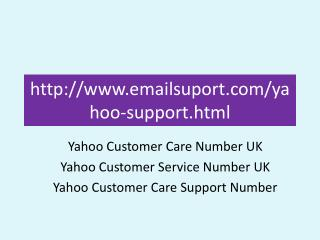 Yahoo Customer Care Number UK