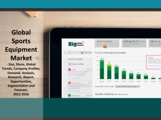 Global Sports Equipment Market 2012-2016