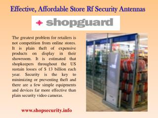 Effective, Affordable Store Rf Security Antennas