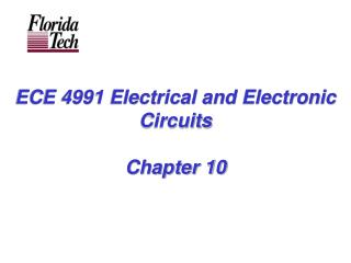 ECE 4991 Electrical and Electronic Circuits Chapter 10