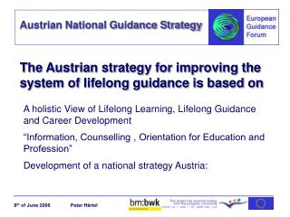 The Austrian strategy for improving the system of lifelong guidance is based on