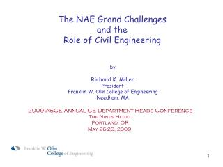 The NAE Grand Challenges and the Role of Civil Engineering