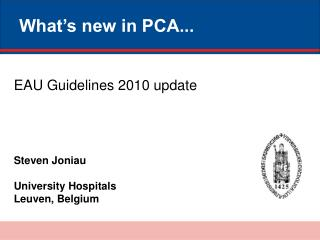 What's new in PCA...