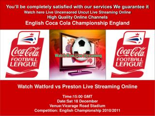 Watch Watford vs Preston Live Streaming Online PC