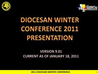 2011 DIOCESAN WINTER CONFERENCE