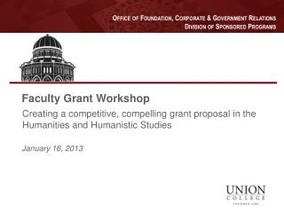 Faculty Grant Workshop