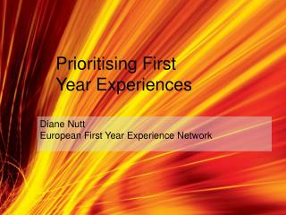 Diane Nutt European First Year Experience Network
