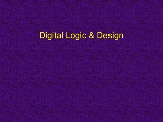 Digital Logic & Design