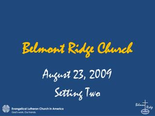 Belmont Ridge Church
