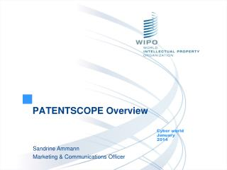 PATENTSCOPE  Overview