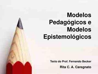 Texto do Prof. Fernando Becker Rita C. A. Caregnato