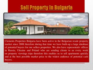 Sell Property In Bulgaria