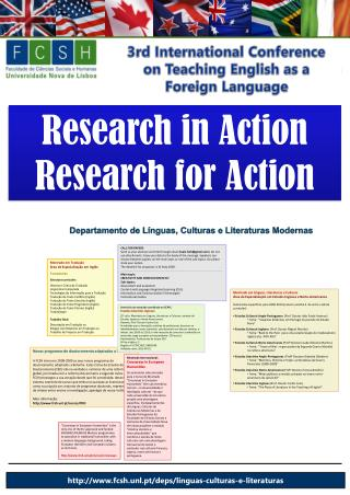 Research in  Action Research  for Action