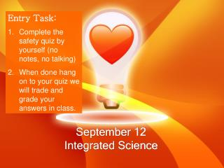 September 12 Integrated Science