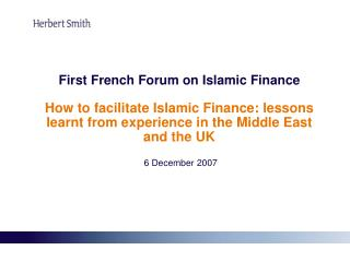 Islamic Finance in the Middle East: Why is Islamic Finance currently en vogue