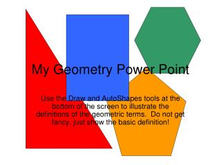 My Geometry Power Point