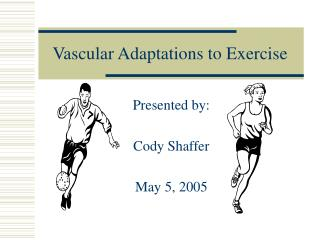 Vascular Adaptations to Exercise