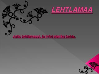 LEHTLAMAA